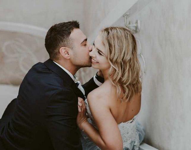 Ślubne zdjęcie Oliwii i Łukasza.