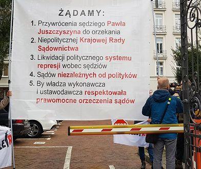 Obywatele RP zablokowali wjazd do Ministerstwa Sprawiedliwości. Mają 5 postulatów