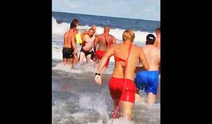 Władysławowo. Akcja WOPR na plaży