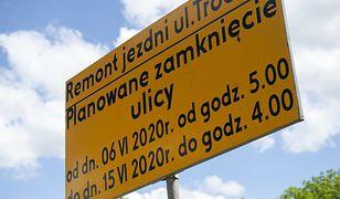 Warszawa. Prace remontowe na ulicy Trockiej (fot. Zarząd Dróg Miejskich)