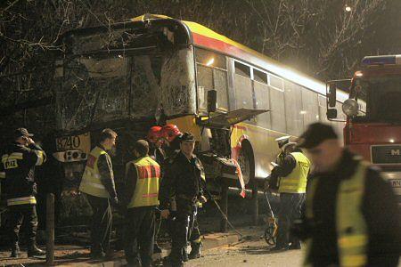 32 osoby ranne w wypadku autobusu w Warszawie
