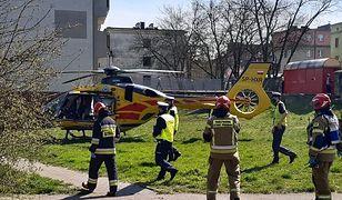 Koszmarny wypadek w Piekarach Śląskich. 9-latek zabrany przez helikopter LPR