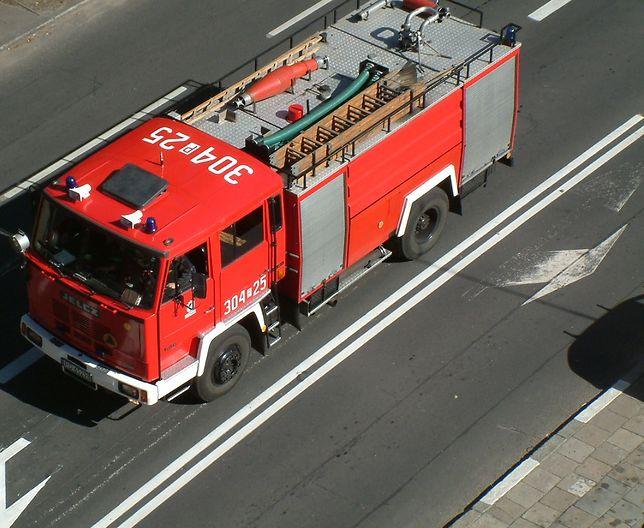 Straż pożarna walczy z ogniem (zdjęcie ilustracyjne)