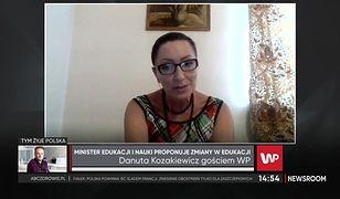Danuta Kozakiewicz, dyrektorka szkoły podstawowej skrytykowała cnoty niewieście proponowane przez ministra Czarnka.