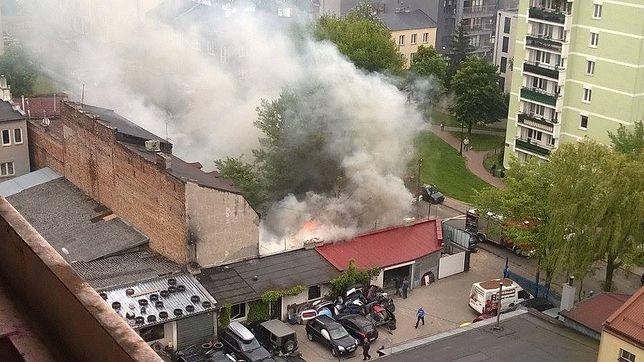 Pożar na Pradze. Na miejscu znaleziono jedną osobę