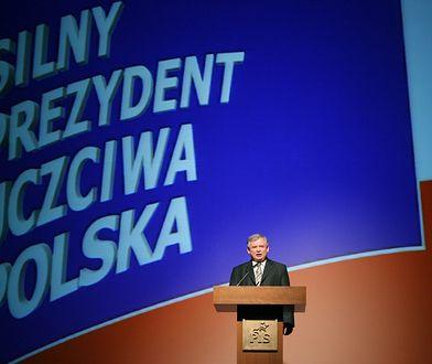Jarosław Kaczyński na konwencji PiS w 2005 roku