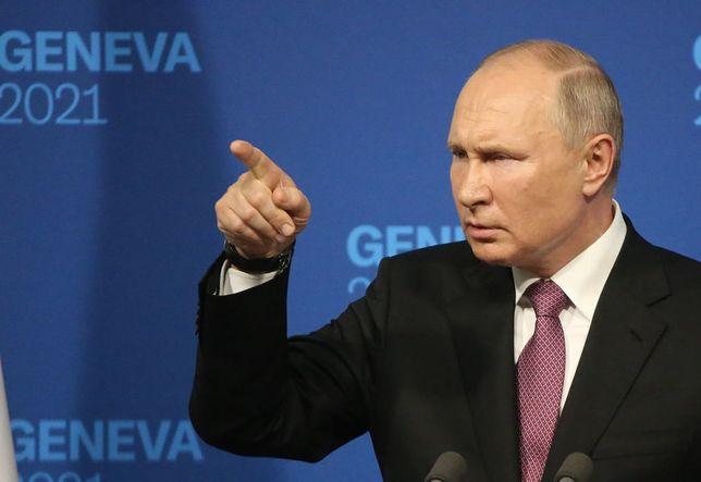 Władimir Putin na konferencji prasowej w Genewie