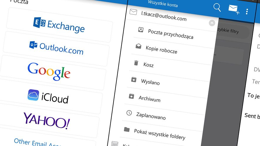 Testowa wersja mobilnego Outlooka już dostępna. Ale nie dla Windows Phone