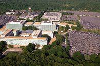 CIA i MI6 stawiają na polskie rozwiązania. Agencje wywiadowcze inwestują w startupy - Widok z lotu ptaka na siedzibę Centralnej Agencji Wywiadowczej, Langley, Wirginia (USA)