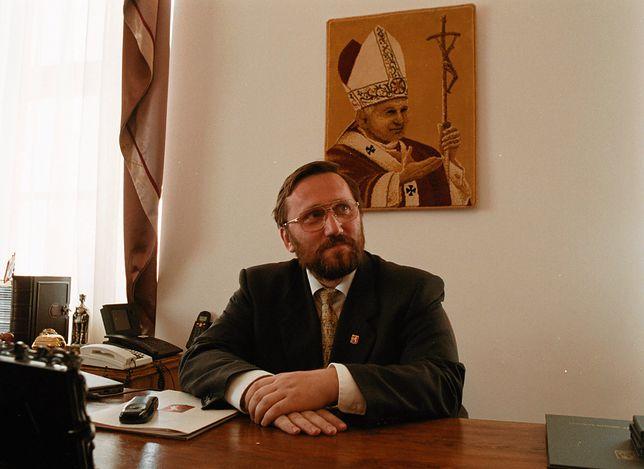 Robert Luśnia jako poseł Ruchu Katolicko-Narodowego, partii Antoniego Macierewicza.