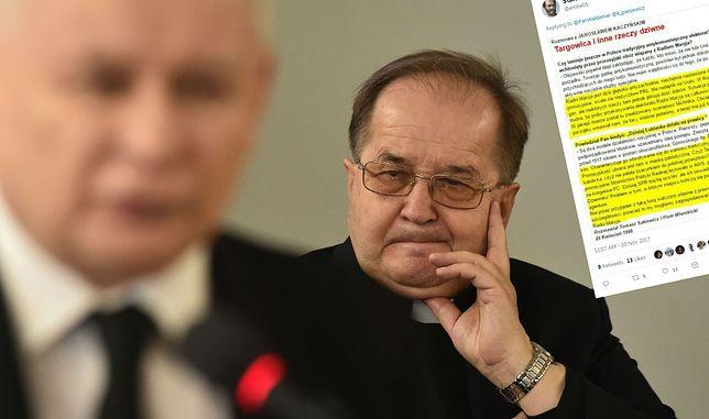 Dyrektor Radio Maryja ojciec Tadeusz Rydzyk oraz prezes PiS Jarosław Kaczyński.
