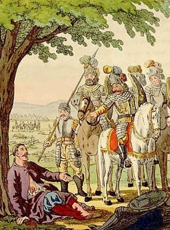 Po wygranej bitwie pod Płowcami Krzyżacy zarządzili odwrót do Torunia bez pochówku zmarłych