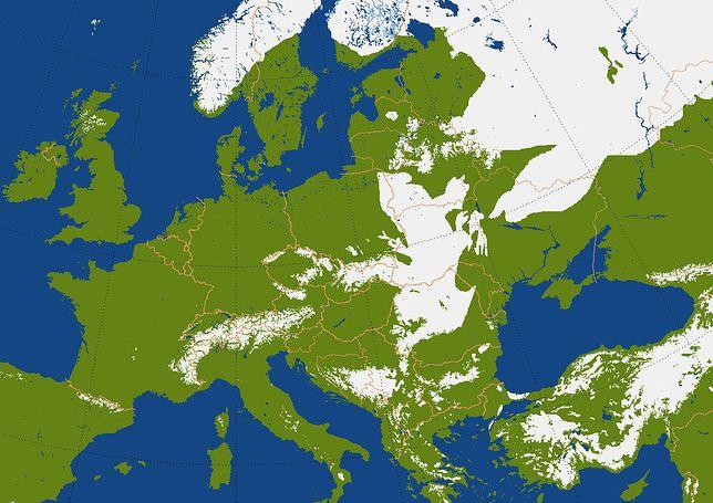 Pogoda na zimę 2020. Mapa występowania śniegu z 10 stycznia. O tej porze roku już połowa kraju powinna być przysypana śniegiem.