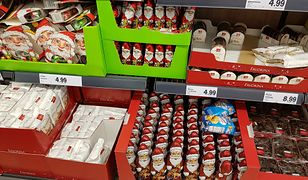 Pierwsze czekoladowe mikołaje pojawiły się w Lidlu już w tym tygodniu. To zdjęcie z jednego z warszawskich sklepów