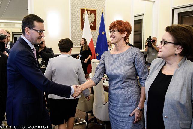 Premier Mateusz Morawiecki może objąć stanowisko po Czerwińskiej. Elżbieta Rafalska prawdopodobnie zostanie w rządzie
