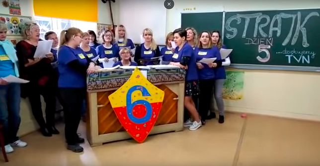 Strajkujące nauczycielki nagrały piosenkę