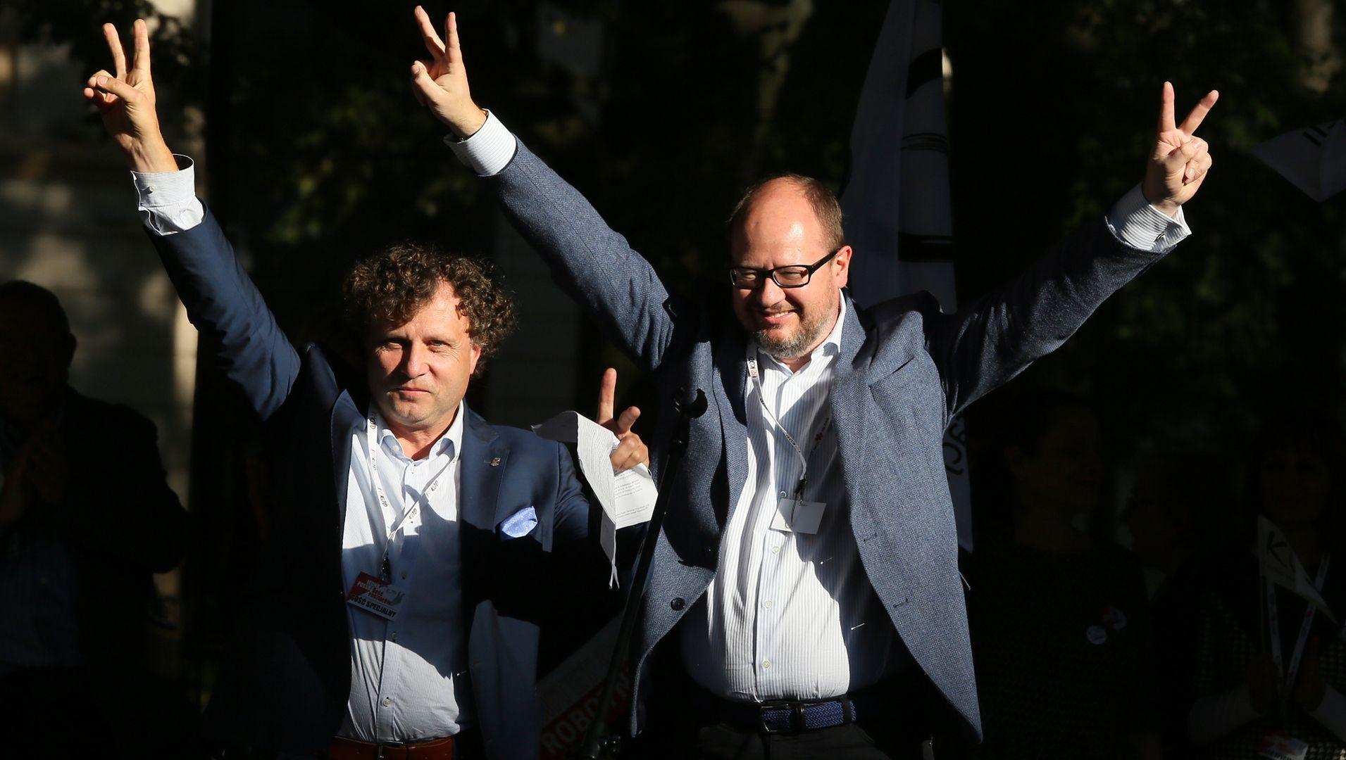 Jacek Karnowski i śp. Paweł Adamowicz