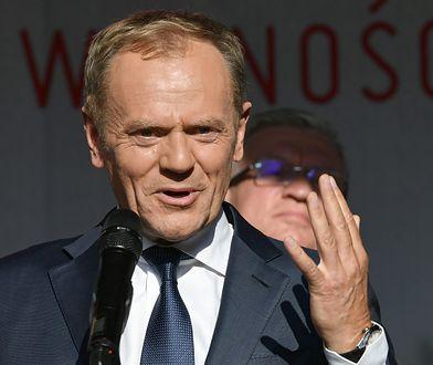 Donald Tusk podczas przemówienia w Gdańsku
