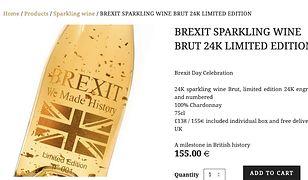 Jedyne takie Chardonnay na świecie. Złote, brexitowe i z bąbelkami.