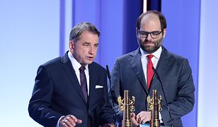 Waldemar Krzystek i Paweł Lewandowski na gali wręczenia nagród 43. FPFF