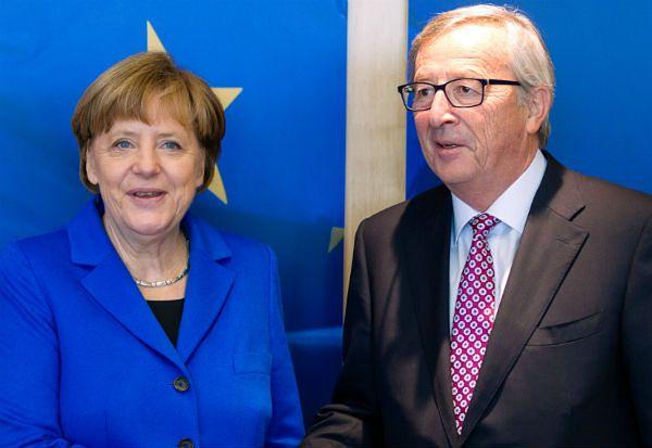 Jean-Claude Juncker z Angelą Merkel