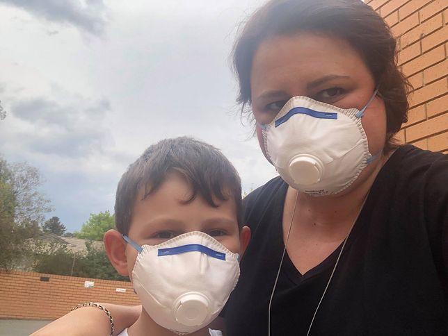 Pożary w Australii. Dym unoszący się nad miastem jest uciążliwy dla mieszkańców