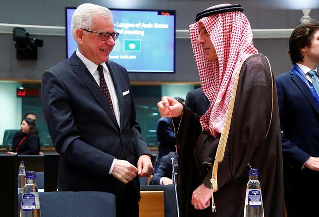 Szefowie dyplomacji Polski i Arabii Saudyjskiej spotkali się w Brukseli