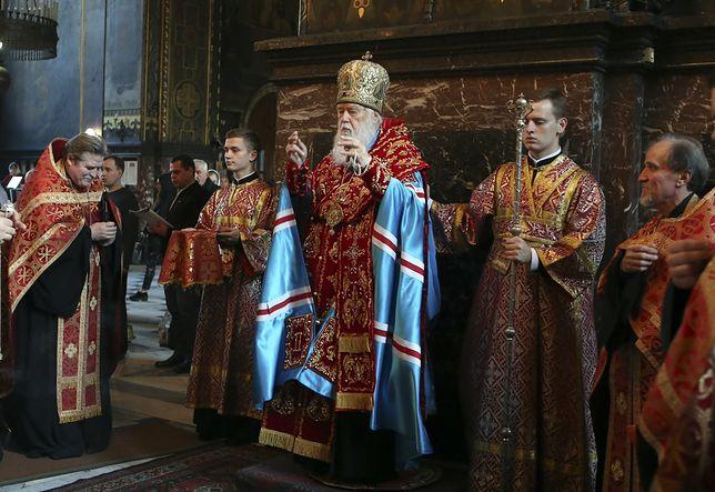 Patriarcha Filared odprawia mszę świętą w Kijowie