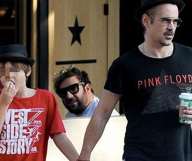 Colin Farrell z synem na spacerze. To rzadki widok!