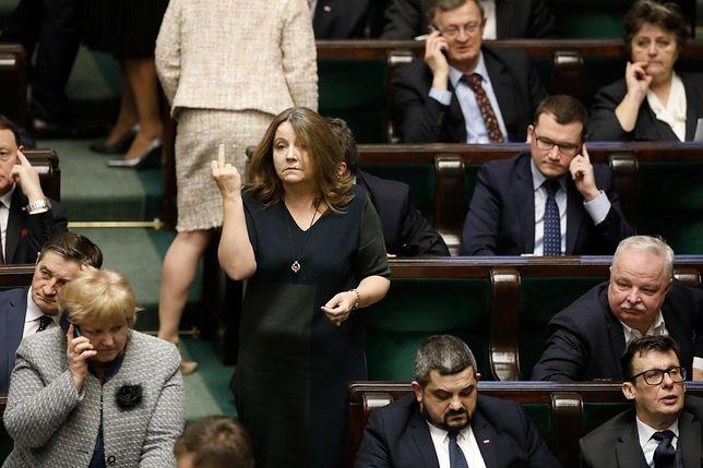 Joanna Lichocka przeprosiła za incydent w Sejmie