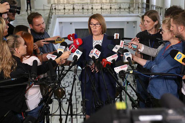 Beata Mazurek reaguje na propozycję Andrzeja Dudy. PiS czeka na wniosek prezydenta