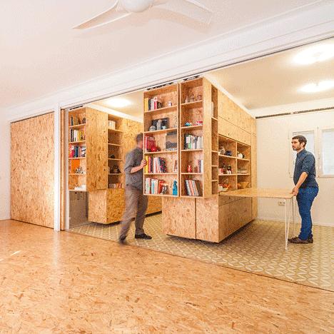 Małe mieszkanie modułowe