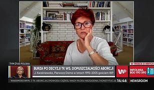 Jolanta Kwaśniewska komentuje decyzję Trybunału Konstytucyjnego