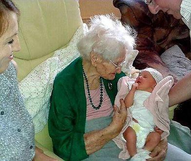 Gliwice. Najstarsza Polka doczekała się praprawnuczki. Dzieli je dokładnie 115 lat