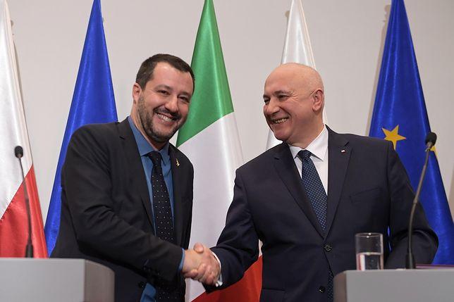 Matteo Salvini przed rozmową z Jarosławem Kaczyńskim spotkał się ze swoim odpowiednikiem, Joachimem Brudzińskim