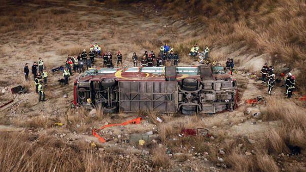 Katastrofa autokaru z pielgrzymami w Hiszpanii. Zginęło 14 osób