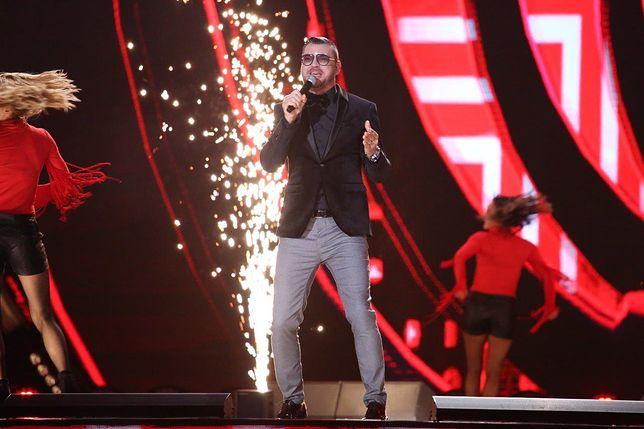 Danzel rozgrzewał publiczność jako jedna z gwiazd Sylwestra w Polsacie