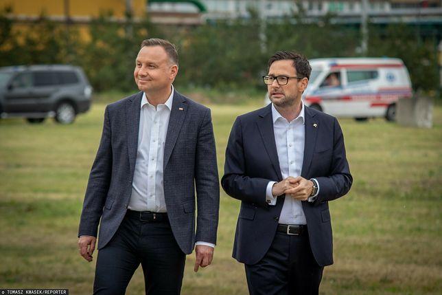 Prezydent Andrzej Duda ceni sobie wsparcie Daniela Obajtka