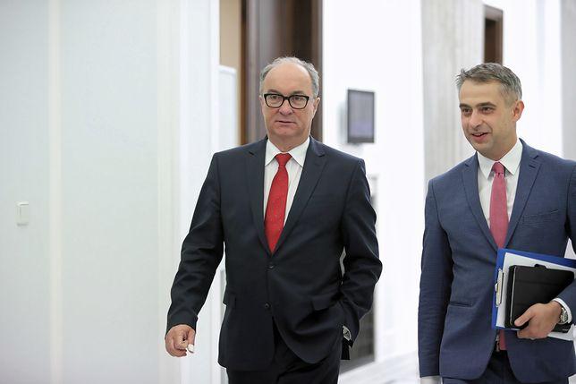 Wicemarszałek Sejmu Włodzimierz Czarzasty i poseł Lewicy Krzysztof Gawkowski
