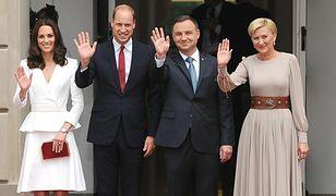 Polska para prezydencka wita księcia i księżną Cambridge