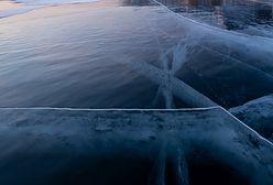 Tafla lodu pokryła śnieg. Niesamowite zjawisko na Podkarpaciu