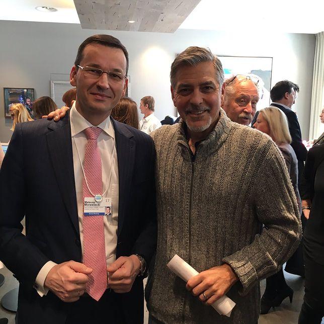 Mateusz Morawiecki pochwalił się zdjęciem z Georgem Clooneyem