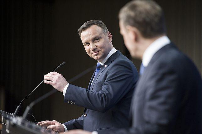 Andrzej Duda i Donald Tusk - to prawdopodobni rywale w wyborach prezydenckich