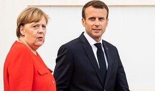 Angela Merkel i Emmanuel Macron spotkali się, żeby rozmawiać o współpracy dwustronnej i przyszłości UE