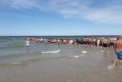 Łańcuch życia na plaży w Łebie. Poszukiwany chłopiec był zupełnie gdzie indziej