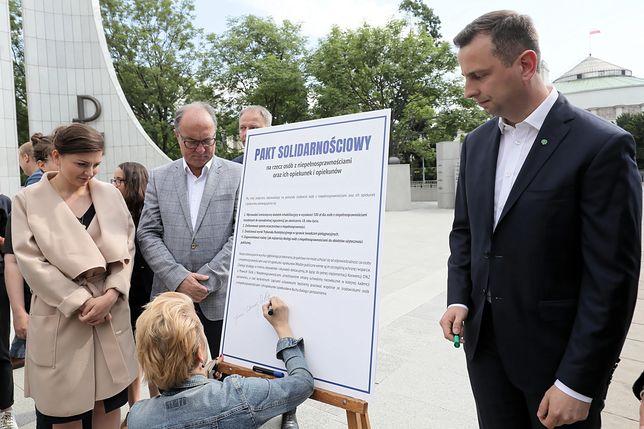 """Politycy opozycji parlamentarnej i pozaparlamentarnej podpisali """"Pakt solidarnościowy"""""""