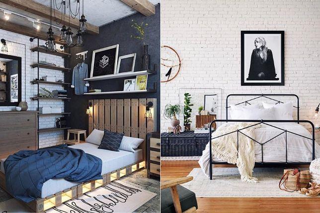 Sypialnia w stylu nowoczesnym może zostać urządzona na modłę industrialną