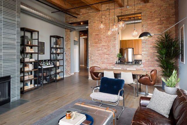 Styl industrialny w salonie inspiruje do poszukiwania minimalistycznych rozwiązań
