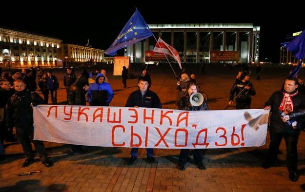 Kilkuset demonstrantów przeszło ulicami Mińska