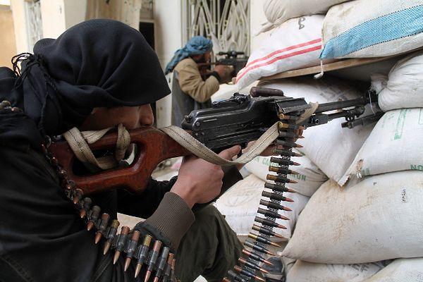 Rebelianci w mieście Deir Ezzor